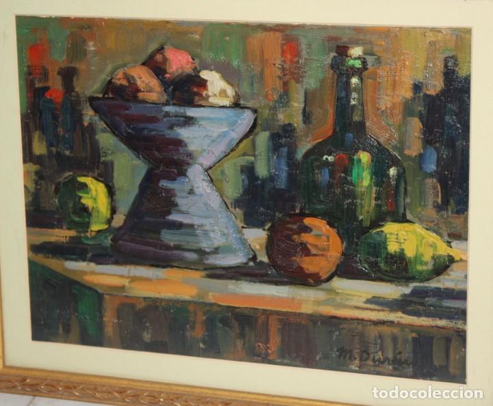 Arte: MIQUEL DURAN i CARRERA (Olot, 1939) OLEO SOBRE CARTULINA. BODEGON - Foto 4 - 203538667