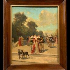 Arte: DIANA DE POITIERS CON ENRIQUE IV, ESC. FRANCESA ROMANTICA. Lote 203634865
