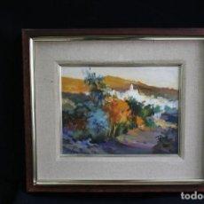 Arte: DIDAC GARCIA RIDAO, (PALAFRUGELL, GIRONA, 1944) OLEO SOBRE LIENZO. BONITA VISTA DE PUEBLO.. Lote 203722223