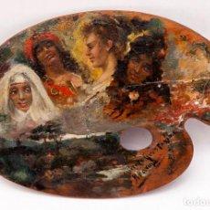 Arte: RICARDO BAROJA - OLEO SOBRE TABLA - C. 1890. Lote 203800056