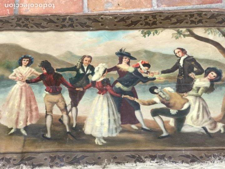 Arte: OLEO DE LA GALLINITA CIEGA DE FRANCISCO DE GOYA. COPIA DE PRINCIPIOS DEL S.XX. - Foto 2 - 203882887
