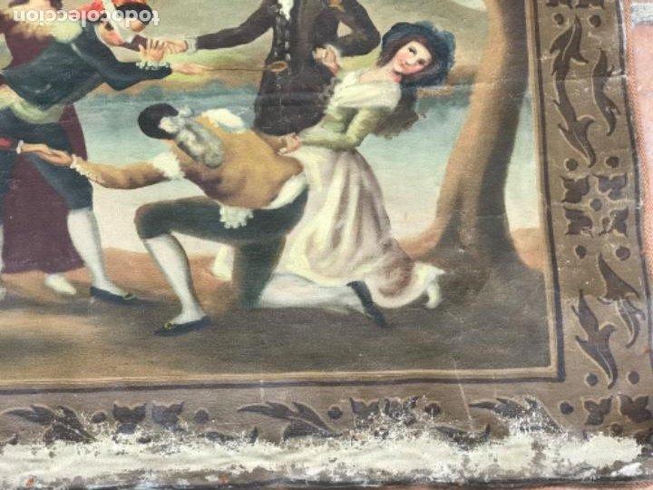 Arte: OLEO DE LA GALLINITA CIEGA DE FRANCISCO DE GOYA. COPIA DE PRINCIPIOS DEL S.XX. - Foto 7 - 203882887