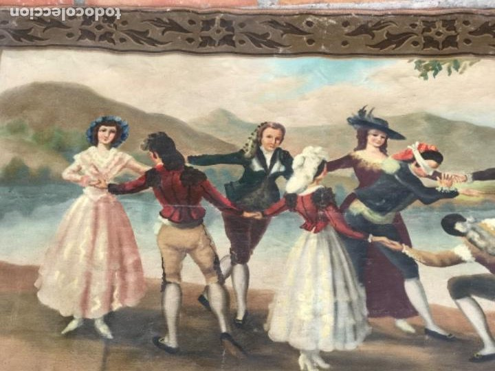 Arte: OLEO DE LA GALLINITA CIEGA DE FRANCISCO DE GOYA. COPIA DE PRINCIPIOS DEL S.XX. - Foto 8 - 203882887