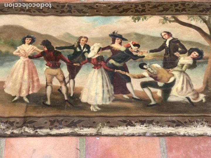 Arte: OLEO DE LA GALLINITA CIEGA DE FRANCISCO DE GOYA. COPIA DE PRINCIPIOS DEL S.XX. - Foto 9 - 203882887