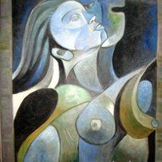 Arte: EXCELENTE PINTURA ESTILO PICASSO. ACRILICO/LIENZO FIRMA ILEGIBLE. Lote 203914313