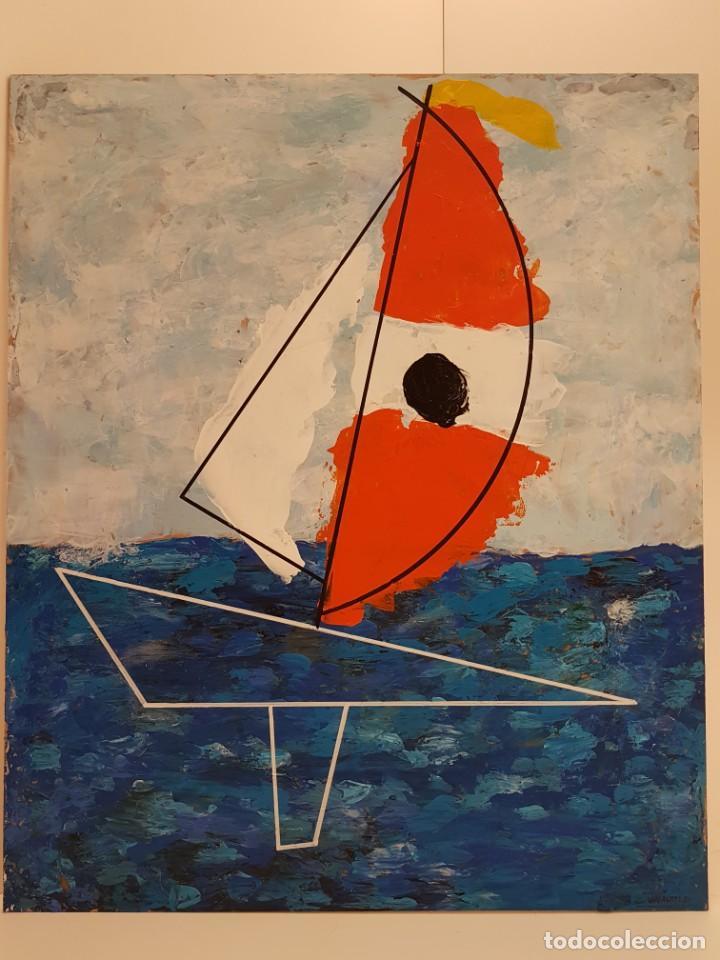 CARLO VIVANTTI DOMINGUELL, (ROMA 1950), ACRÍLICO SOBRE TABLERO, (60X50) (Arte - Pintura - Pintura al Óleo Contemporánea )