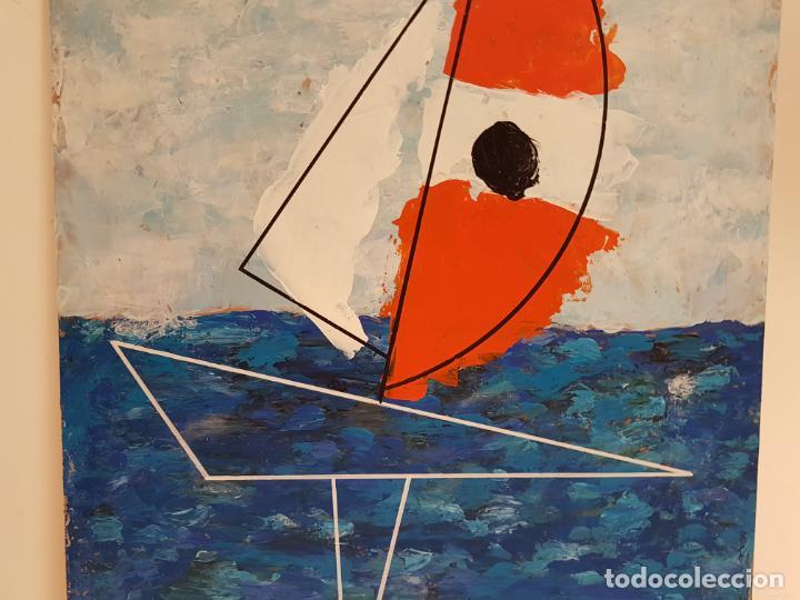 Arte: CARLO VIVANTTI DOMINGUELL, (ROMA 1950), ACRÍLICO SOBRE TABLERO, (60X50) - Foto 4 - 203922376