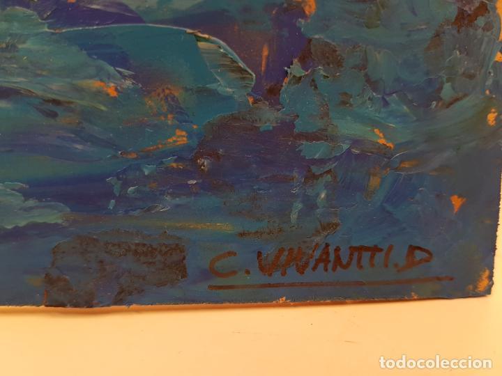 Arte: CARLO VIVANTTI DOMINGUELL, (ROMA 1950), ACRÍLICO SOBRE TABLERO, (60X50) - Foto 6 - 203922376