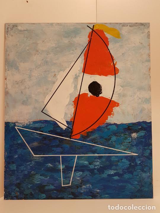 Arte: CARLO VIVANTTI DOMINGUELL, (ROMA 1950), ACRÍLICO SOBRE TABLERO, (60X50) - Foto 7 - 203922376
