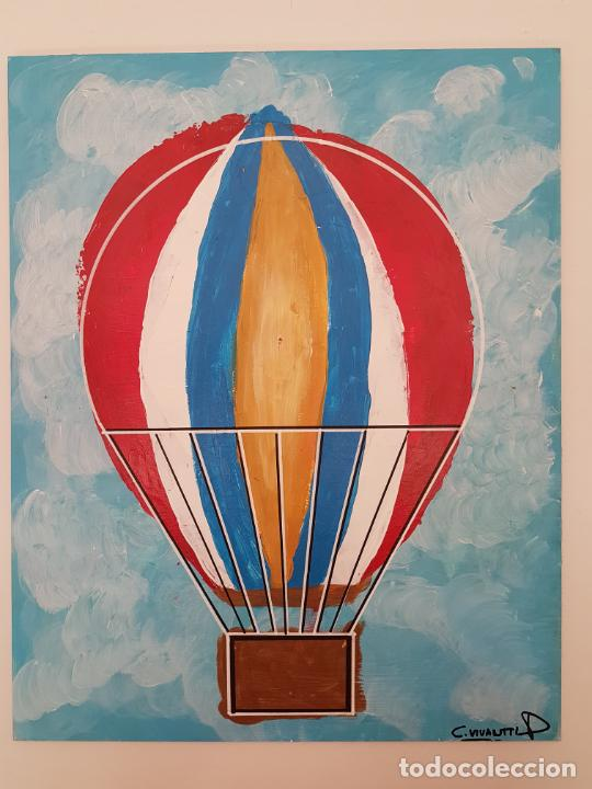 Arte: CARLO VIVANTTI DOMINGUELL, (ROMA 1950), ACRÍLICO SOBRE TABLERO, (50X40) - Foto 6 - 203922765