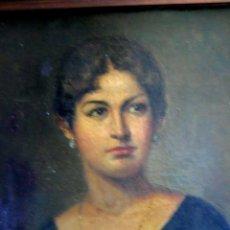 Arte: IMPORTANTE OBRA. VICENTE RENAU TORRENT (CASTELLÓN,1872-1966). RETRATO DE DAMA. ÓLEO 100X75 CMS.. Lote 203942730
