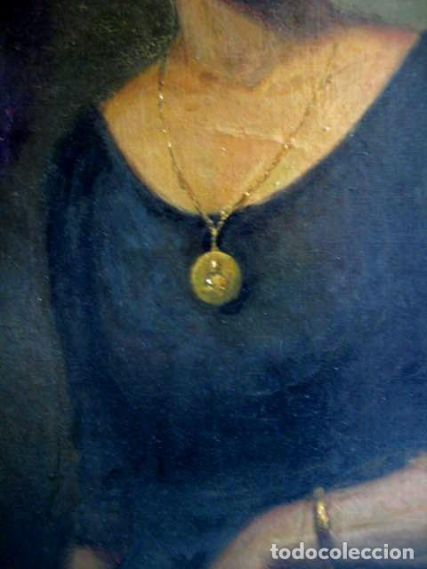 Arte: IMPORTANTE OBRA. VICENTE RENAU TORRENT (CASTELLÓN,1872-1966). RETRATO DE DAMA. ÓLEO 100X75 CMS. - Foto 5 - 203942730