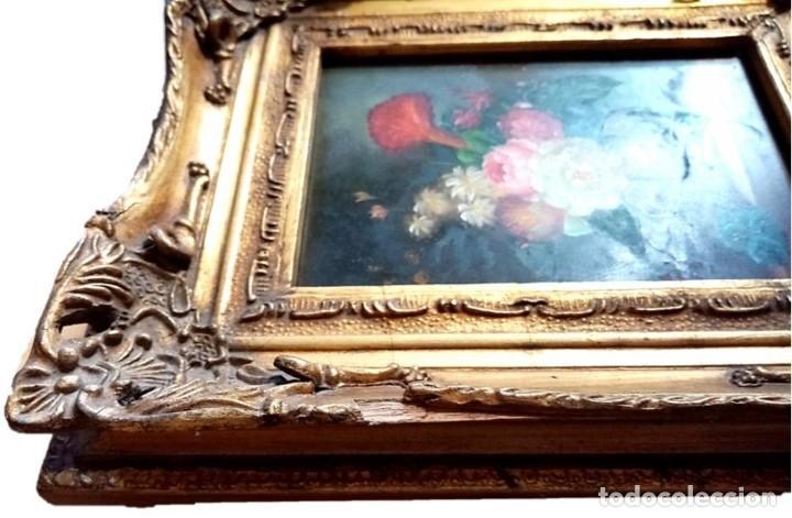 Arte: PINTURA BODEGON FLORAL,CARVERS & GILDERS (INGLATERRA S XIX) - Foto 3 - 204022522