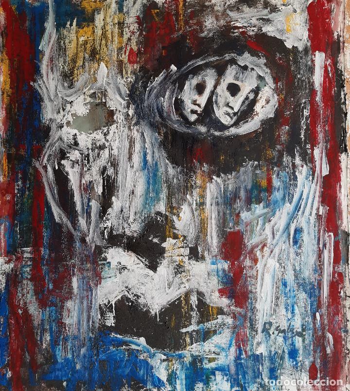 Arte: pintura sobre tela, firma.R,Galaso - Foto 2 - 204062482