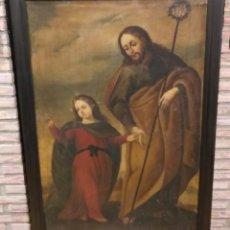 Arte: OLEO SOBRE LIENZO SAN JOSÉ CON EL NIÑO S. XVII. ATRIBUIDO AL PINTOR RIOJABAJEÑO DOMINGO POLO. Lote 204070973