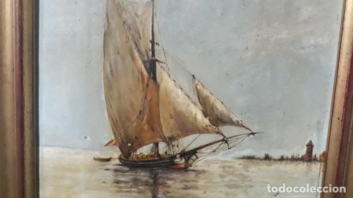 Arte: magnifica pintura al oleo sobre lienzo firmada y dedicada detras,siglo xix - Foto 2 - 204089523