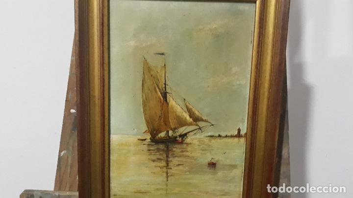 MAGNIFICA PINTURA AL OLEO SOBRE LIENZO FIRMADA Y DEDICADA DETRAS,SIGLO XIX (Arte - Pintura - Pintura al Óleo Antigua sin fecha definida)