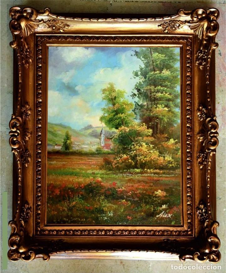 CUADRO AL ÓLEO SOBRE TABLA. PAISAJE. 54X44CM (Arte - Pintura - Pintura al Óleo Moderna sin fecha definida)
