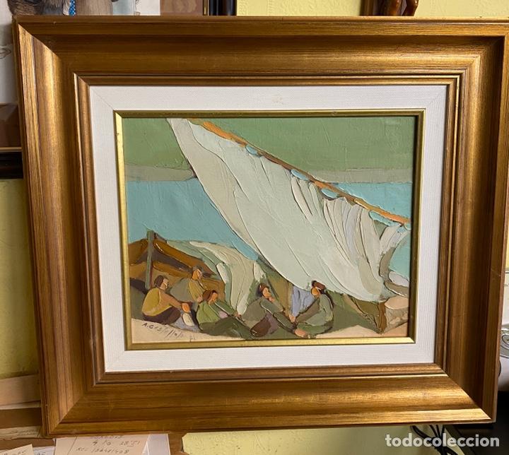 A.CASTELLOTE OLEO SOBRE LIENZO MEDIDAS 42X33 CON MARCO 57X66 (Arte - Pintura - Pintura al Óleo Moderna sin fecha definida)