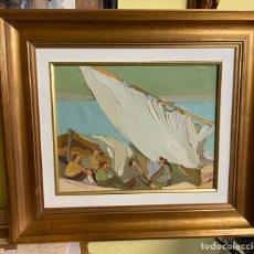 Arte: A.CASTELLOTE OLEO SOBRE LIENZO MEDIDAS 42X33 CON MARCO 57X66. Lote 204126047