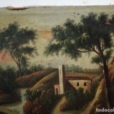 Arte: OLEO SOBRE LIENZO XVIII, PAISAJE RURAL. Lote 204148616