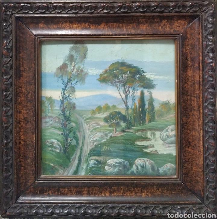 PRECIOSO ÓLEO ORIGINAL, ANTIGUO (Arte - Pintura - Pintura al Óleo Antigua sin fecha definida)