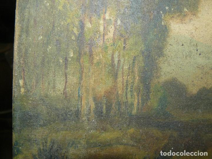 Arte: OLEO SOBRE TELA - ANONIMO - PAISAJE - Foto 8 - 191582477