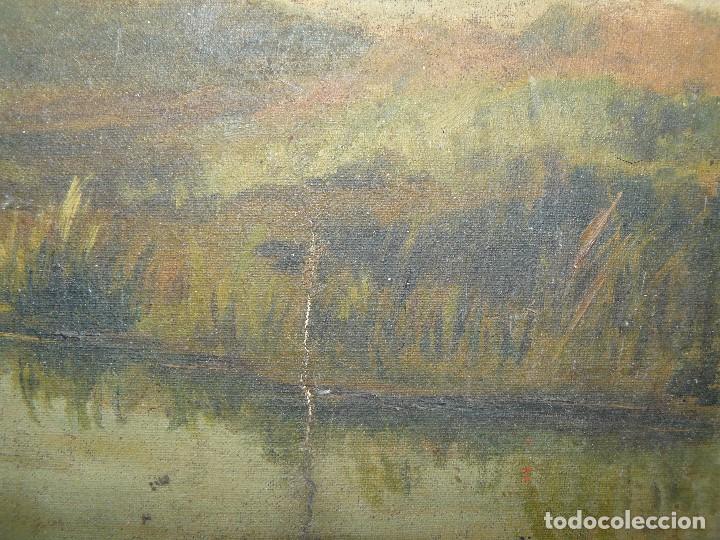 Arte: OLEO SOBRE TELA - ANONIMO - PAISAJE - Foto 10 - 191582477