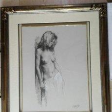 Arte: VICENTE ROMERO REDONDO - PASTEL SOBRE PAPEL - ENMARCADO 97 X 82. Lote 204200975
