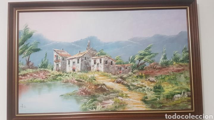 Arte: Precioso cuadro al óleo , gran tamañp 1m x 60 cm - Foto 2 - 204213307