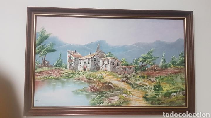 PRECIOSO CUADRO AL ÓLEO , GRAN TAMAÑP 1M X 60 CM (Arte - Pintura - Pintura al Óleo Antigua sin fecha definida)