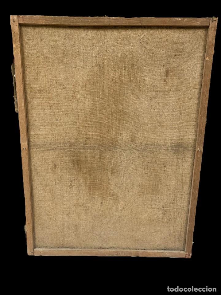 Arte: Antiguo óleo sobre lienzo de San Vicente Ferrer. Siglo XVII. Bastidor original. 87x67 - Foto 4 - 177521038