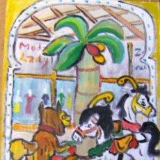 Arte: TIOVIVO, ÓLEO LIENZO MONTADO EN CARTÓN ,29,7X42 CM. AUTOR CRESPO. Lote 204232127