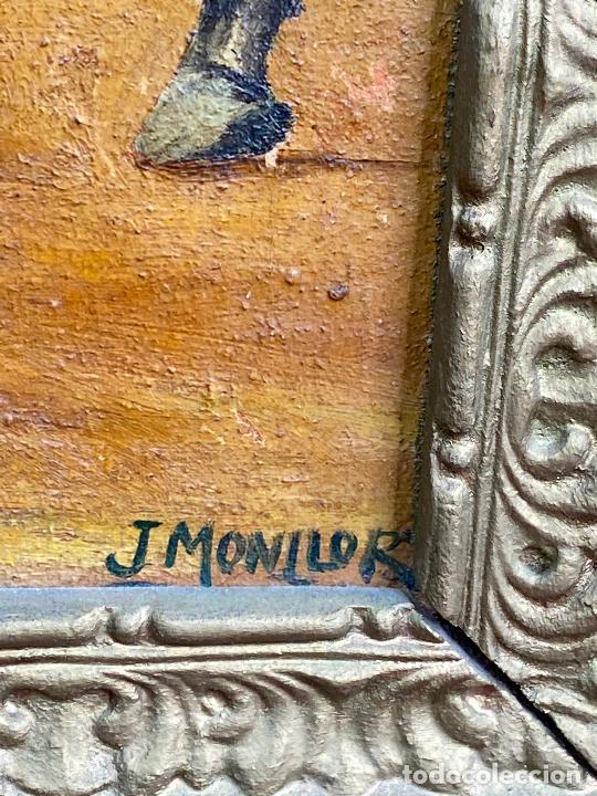 Arte: CUADRO OLEO DEL PINTOR MURCIANO JORGE MONLLOR - el payador- años 40 Murcia - Foto 6 - 204254328