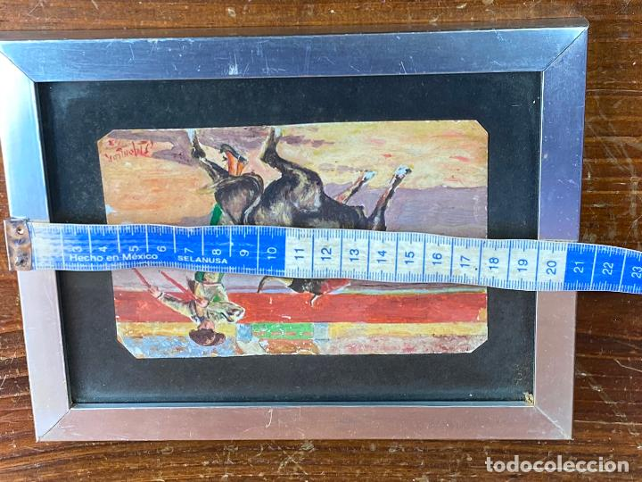 Arte: OLEO TAURINO DEL PINTOR MURCIANO JORGE MONLLOR 1948 o 1943 - Murcia - Foto 4 - 204255276
