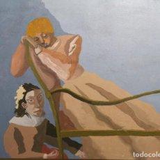 Arte: CASTILLO, JORGE. (PONTEVEDRA, 1933). AMANTES. ÓLEO SOBRE TABLA.. Lote 204394075