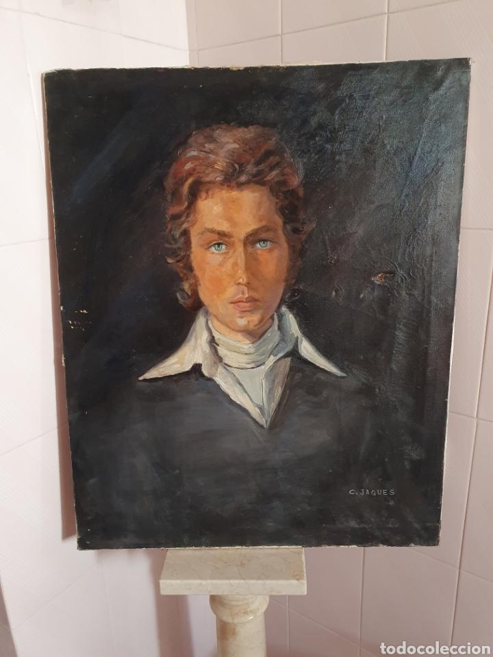 PINTURA AL OLEO SOBRE LIENZO DE UN APUESTO CABALLERO ESTA FIRMADA (Arte - Pintura - Pintura al Óleo Antigua sin fecha definida)