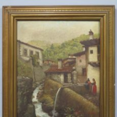 Arte: VISTA DE GUISANDO. AVILA. ENRIQUE PEREZ VICENTE (1907-?). OLEO S/ LIENZO. Lote 204459532