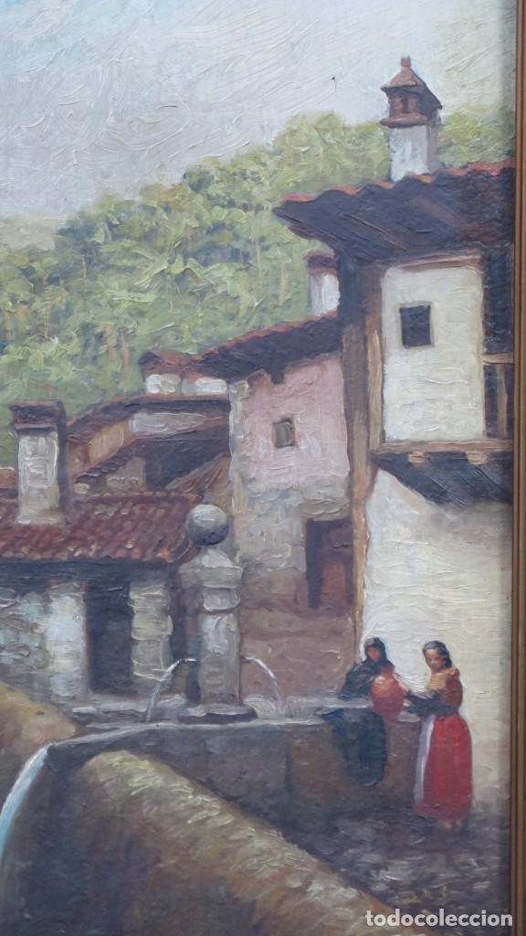Arte: VISTA DE GUISANDO. AVILA. ENRIQUE PEREZ VICENTE (1907-?). OLEO S/ LIENZO - Foto 2 - 204459532