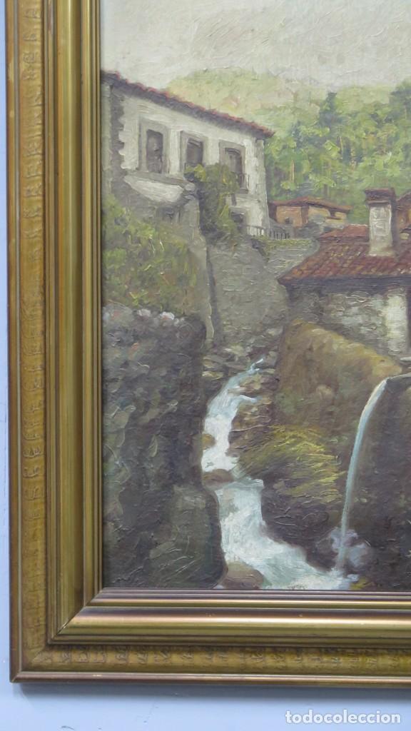 Arte: VISTA DE GUISANDO. AVILA. ENRIQUE PEREZ VICENTE (1907-?). OLEO S/ LIENZO - Foto 3 - 204459532
