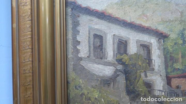 Arte: VISTA DE GUISANDO. AVILA. ENRIQUE PEREZ VICENTE (1907-?). OLEO S/ LIENZO - Foto 4 - 204459532