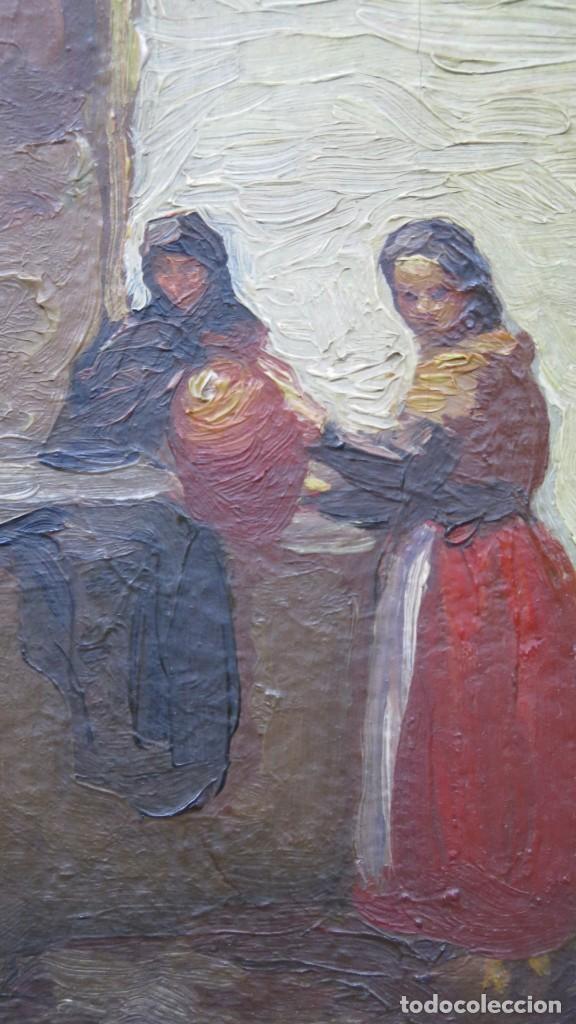 Arte: VISTA DE GUISANDO. AVILA. ENRIQUE PEREZ VICENTE (1907-?). OLEO S/ LIENZO - Foto 6 - 204459532