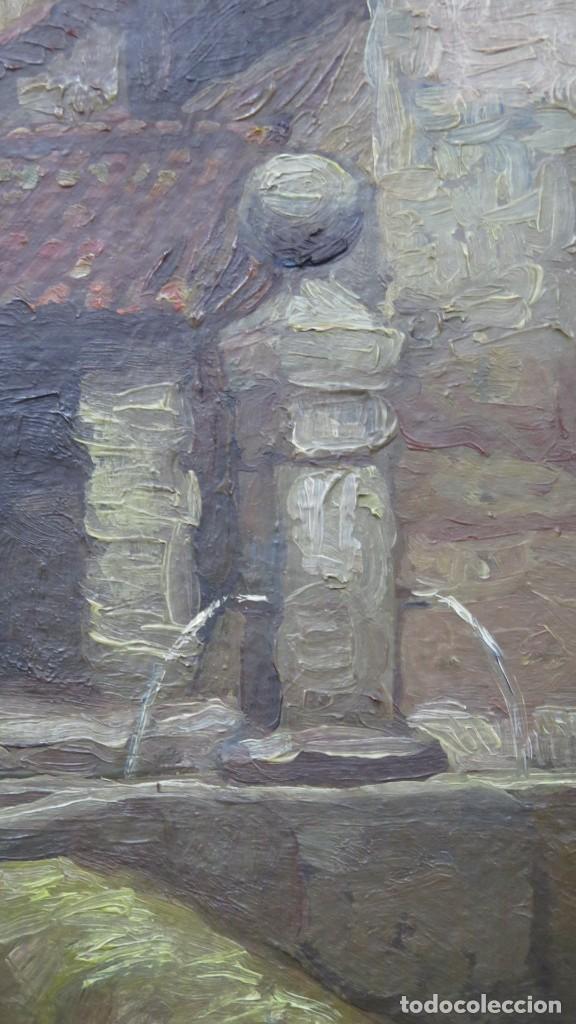 Arte: VISTA DE GUISANDO. AVILA. ENRIQUE PEREZ VICENTE (1907-?). OLEO S/ LIENZO - Foto 7 - 204459532