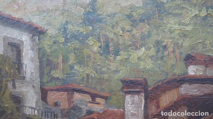 Arte: VISTA DE GUISANDO. AVILA. ENRIQUE PEREZ VICENTE (1907-?). OLEO S/ LIENZO - Foto 8 - 204459532