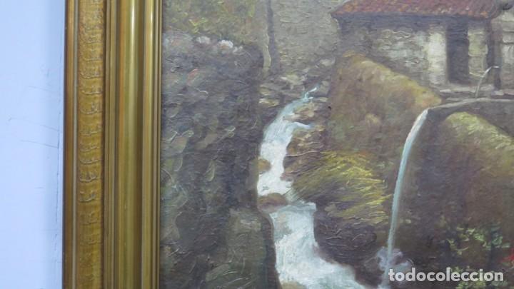 Arte: VISTA DE GUISANDO. AVILA. ENRIQUE PEREZ VICENTE (1907-?). OLEO S/ LIENZO - Foto 10 - 204459532
