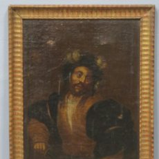 Arte: TIPO DESENVAINANDO PUÑAL. OLEO S/ LIENZO. ESCUELA ITALIANA. SIGLO XVII. Lote 204461091