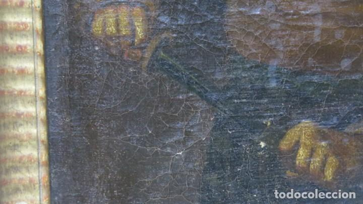 Arte: TIPO DESENVAINANDO PUÑAL. OLEO S/ LIENZO. ESCUELA ITALIANA. SIGLO XVII - Foto 2 - 204461091
