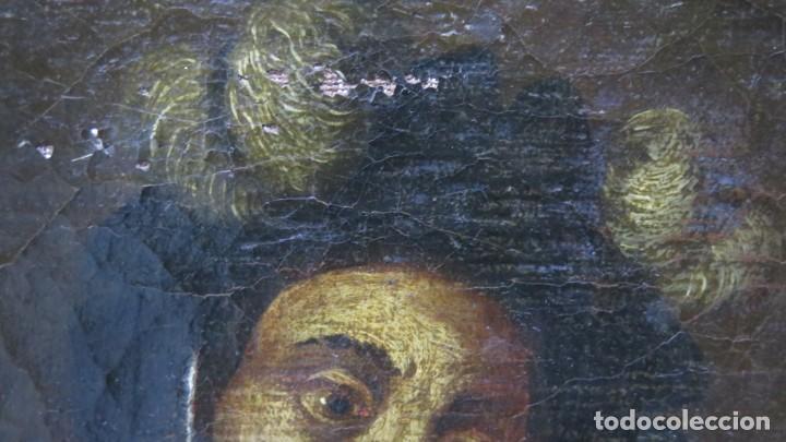 Arte: TIPO DESENVAINANDO PUÑAL. OLEO S/ LIENZO. ESCUELA ITALIANA. SIGLO XVII - Foto 5 - 204461091