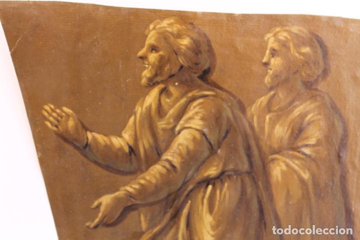 Arte: FRAGMENTO DE PINTURA AL TEMPLE 1 SOBRE PAPEL SIGLOS XIV-XV - Foto 4 - 204542030