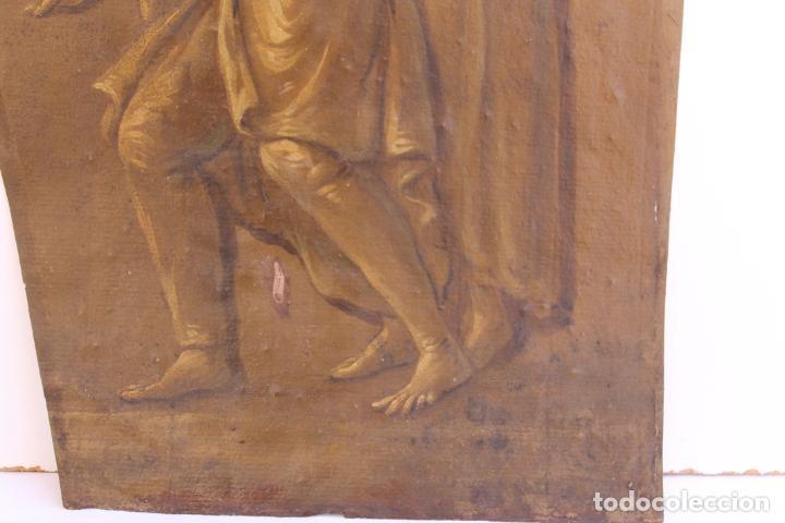 Arte: FRAGMENTO DE PINTURA AL TEMPLE 1 SOBRE PAPEL SIGLOS XIV-XV - Foto 5 - 204542030
